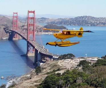 Seaplane flight air tour over San Francisco & Alcatraz